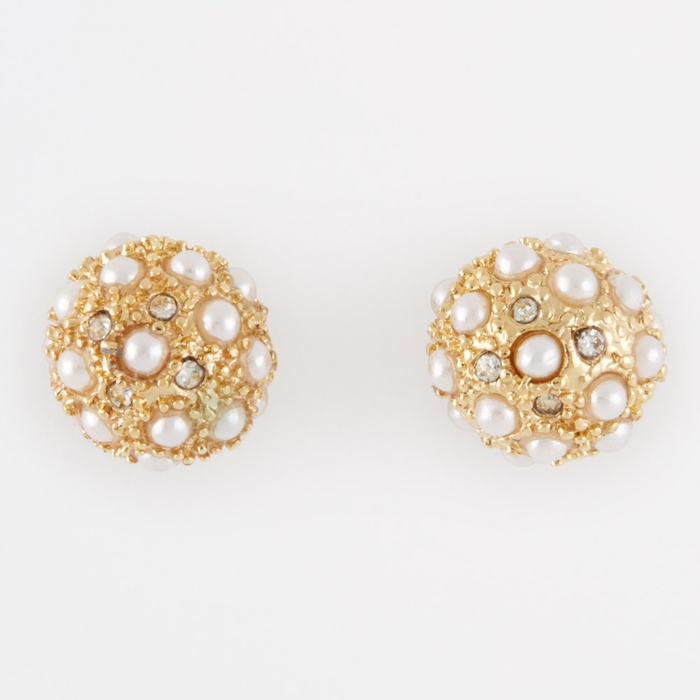 Best Bridal Earrings - Ann Taylor Modern Pearlized Cabochon Stud Earrings