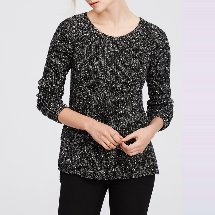 Best Crewneck Sweaters Under $100 - Ann Taylor Speckled Crew Neck Sweater