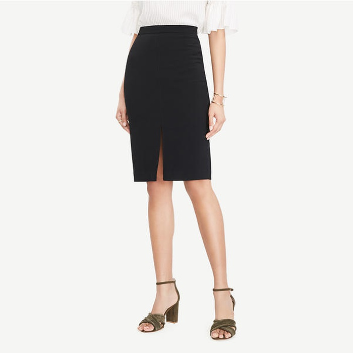 Best Must-Haves for a Timeless Wardrobe - Ann Taylor Textured Slit Pencil Skirt