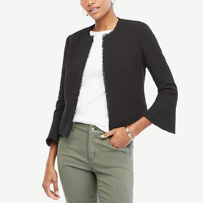 Best Must-Haves for a Timeless Wardrobe - Ann Taylor Textured Tweed Fluted Sleeve Jacket