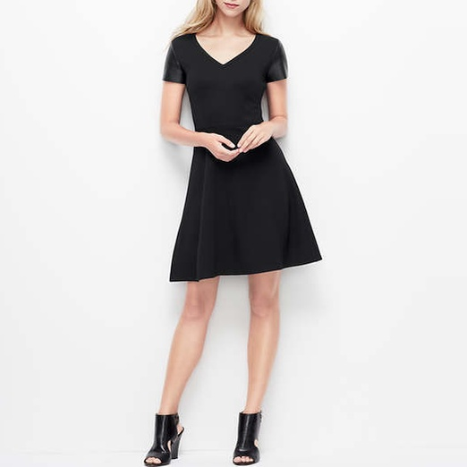 Best Work Dresses Under $200 - Ann Taylor Faux Leather Short Sleeve Dress