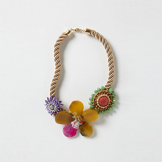 Best Statement Necklaces - Anthropologie Floret Rope Necklace