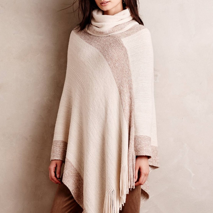 Minnie Rose Cashmere Ruana Poncho | Rank & Style
