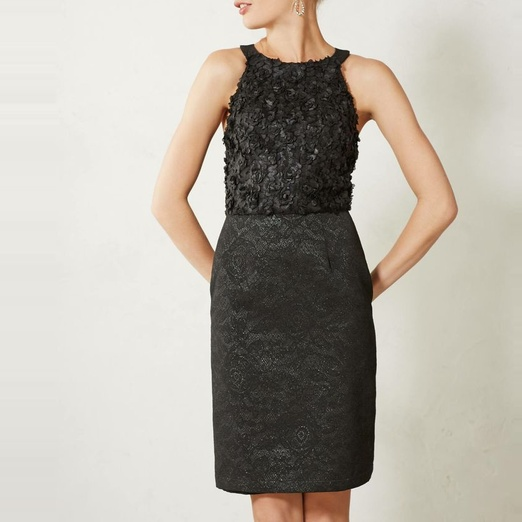 Best Ten Winter Date Night Musts - Anthropologie Rosebud Pencil Dress