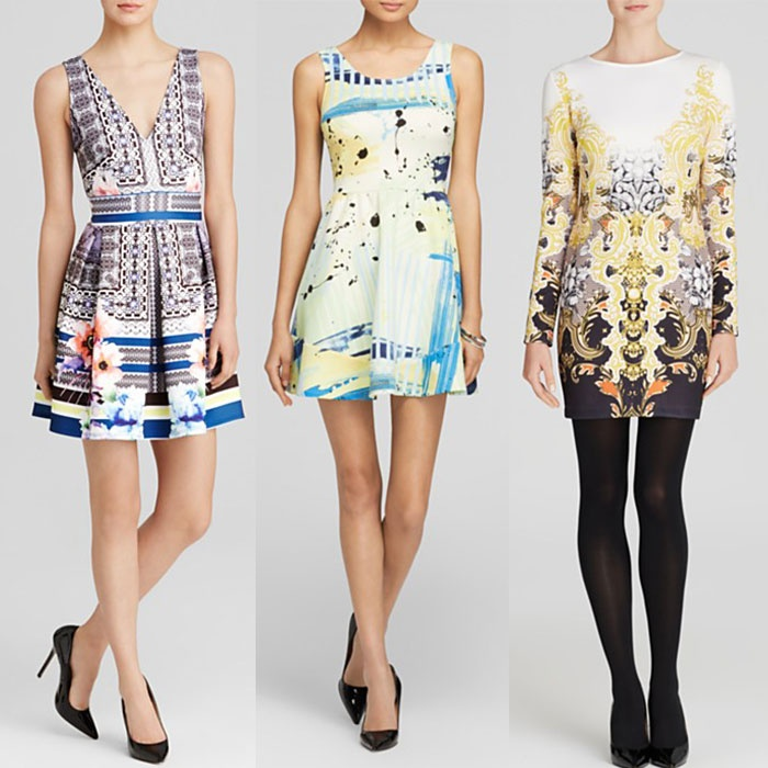 Best Printed Dresses Under $100 - Aqua Scuba Dress