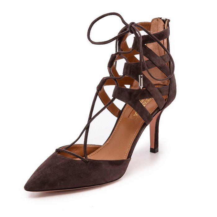 Best The Ten Best Fall Party Pumps and Clutches - Aquazzura Belgravia Pumps