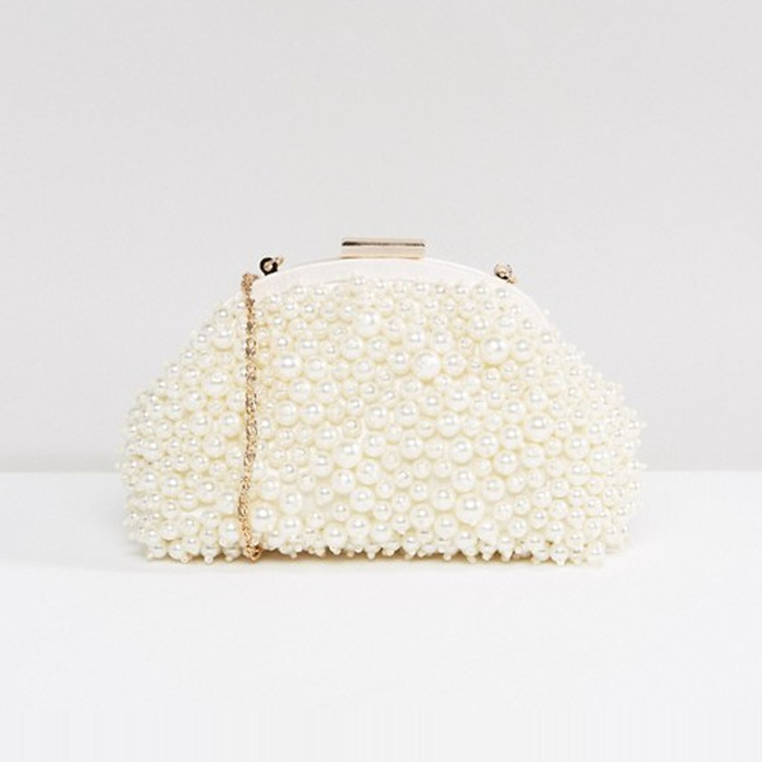 Best Bridal Handbags - ASOS WEDDING Pearl Covered Clutch Bag