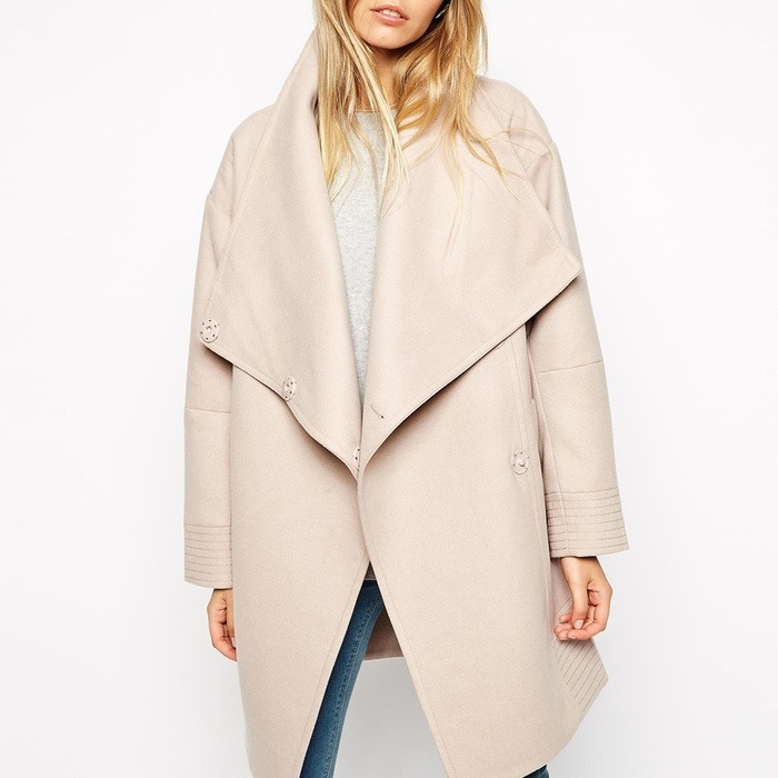 Best Spring Jackets - ASOS Coat With Wrap Front & Funnel Neck