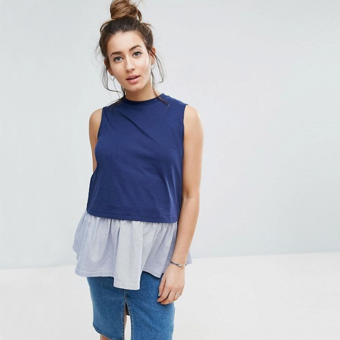 Best Nursing Tanks - ASOS Maternity NURSING Tank with Woven Hem