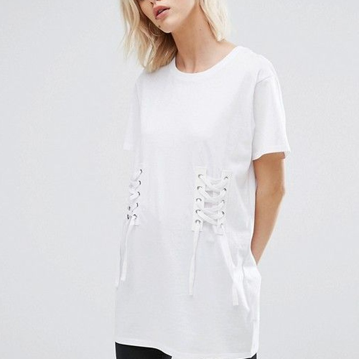 Best Corset Tops - ASOS New Look Corset Detail T-Shirt