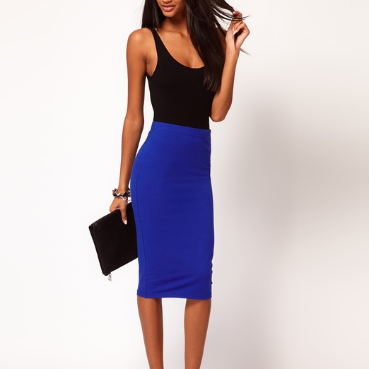 ASOS Pencil Skirt in Jersey | Rank & Style