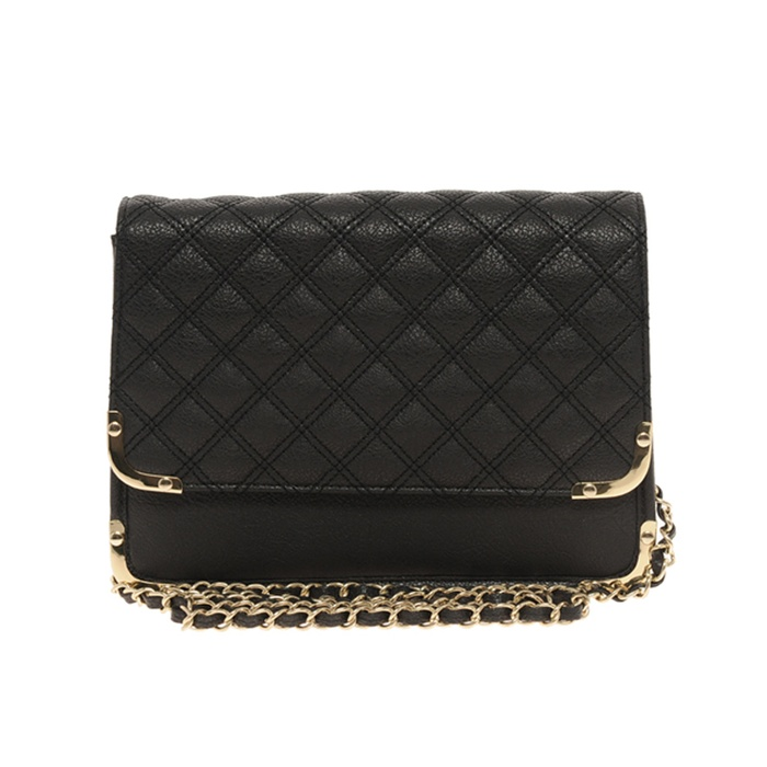 0043031c3d6 ASOS Quilted Metal Corner Cross Body Bag