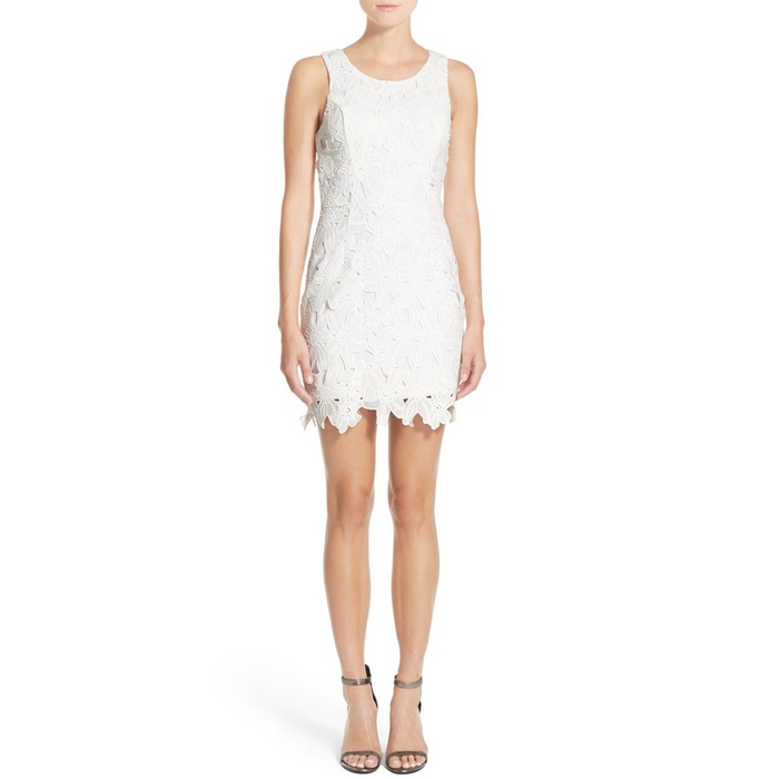 Best Mini Dresses - ASTR the Label Textured Floral Body-Con Dress