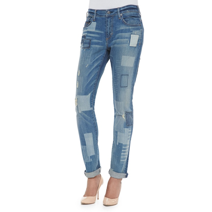 Best Winter Jeans - True Religion Audrey Mid-Rise Patchwork Jeans