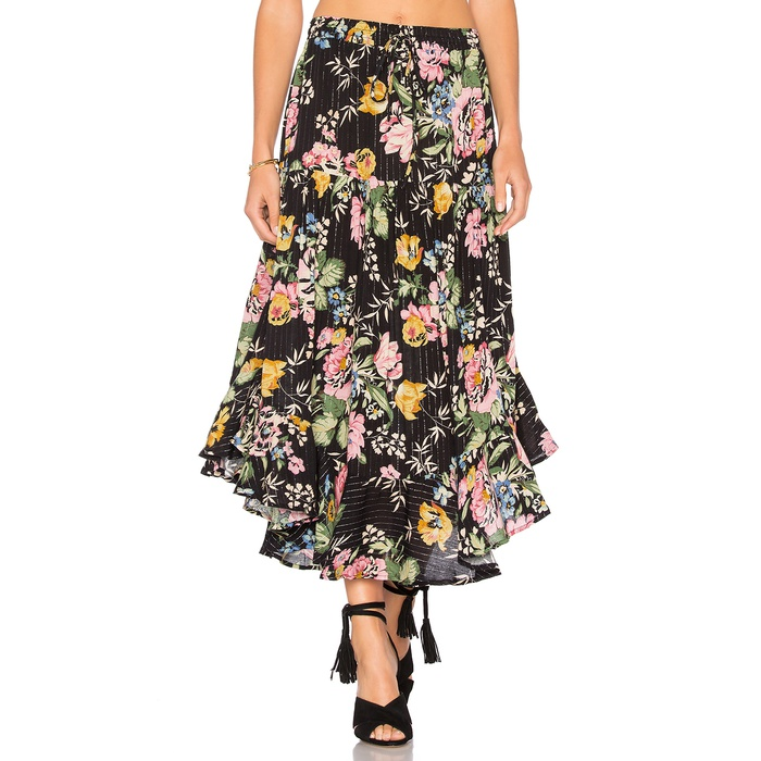 Best Flirty Skirts - Auguste Delilah Frilled Midi Skirt