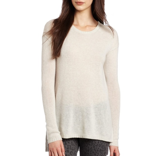 Best Cashmere Sweaters - Autumn CashmereHi Lo Loose Gauge Crew Neck Sweater