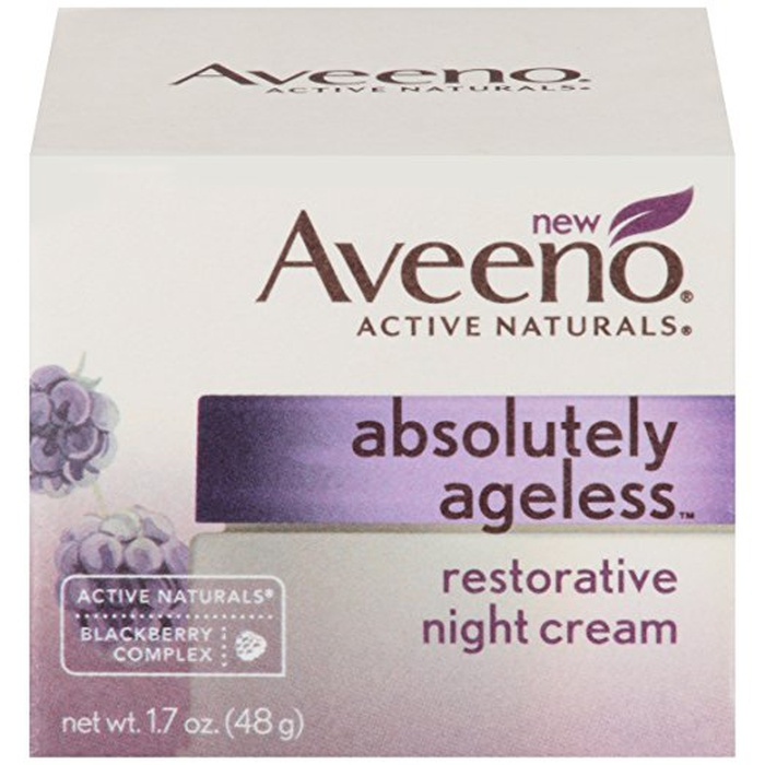 Best Drugstore Night Creams - Aveeno Active Naturals Absolutely Ageless Restorative Night Cream