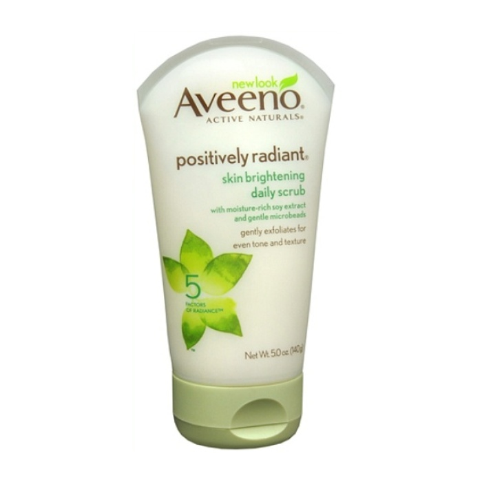 Best Daily Exfoliating Cleansers - Aveeno Positively Radiant Skin Brightening Daily Scrub
