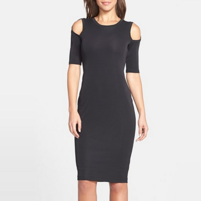 Best Spring LBDs Under $200 - B44 Dressed by Bailey 44 Cold Shoulder Body-Con Midi Dress