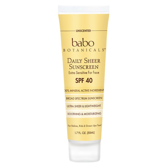 Best Natural Sunscreens for Summer '16 - Babo Botanicals Daily Sheer Sunscreen SPF 40, Unscented