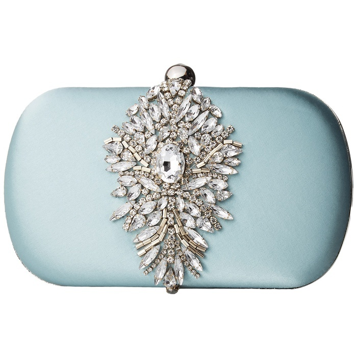 Best Something Blue Ideas - Badgley Mischka Aurora Clutch