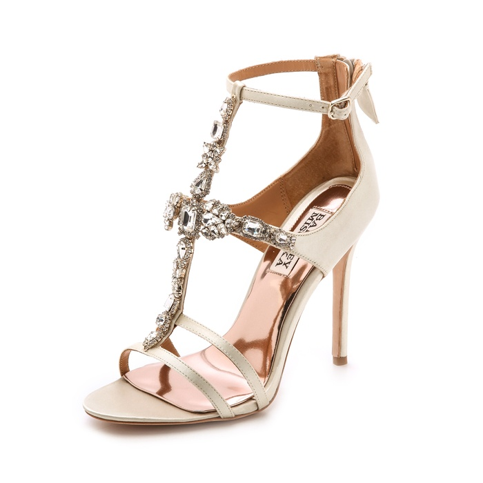 Best Wedding Heels - Badgley Mischka Giovana T Strap Sandals