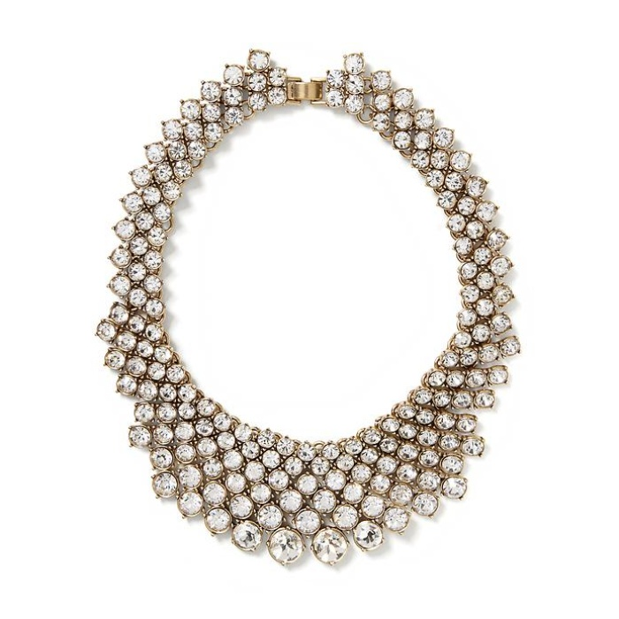 Best Crystal Statement Necklaces - Banana Republic Crystal Collar Necklace
