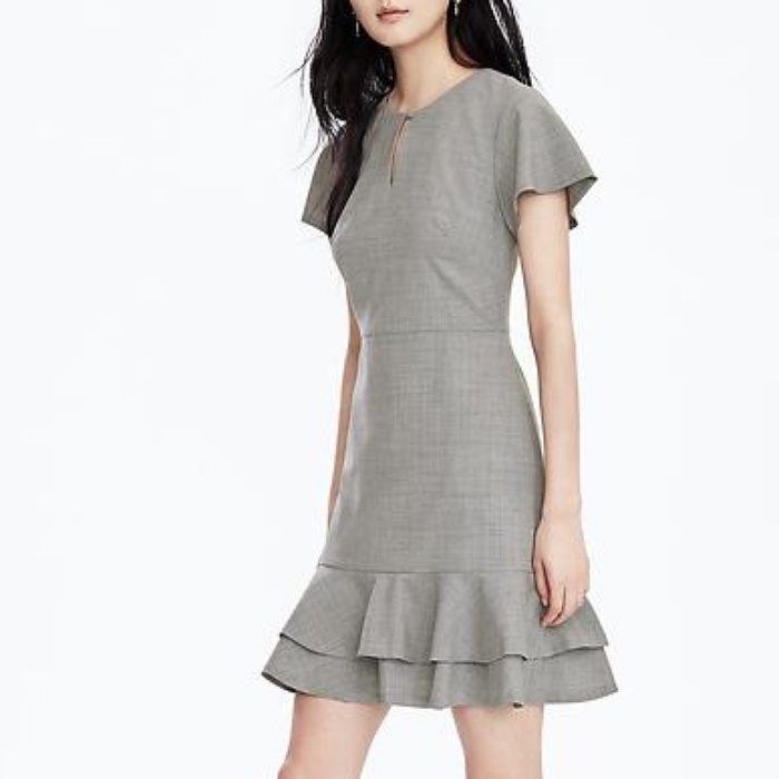 Best Wear to Work Dresses - Banana Republic Lightweight Wool Fit-and-Flare Dress