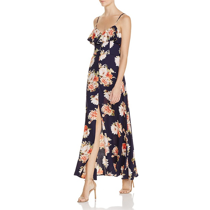 Best Floral Maxi Dresses - Band of Gypsies Floral Flounce Maxi Dress