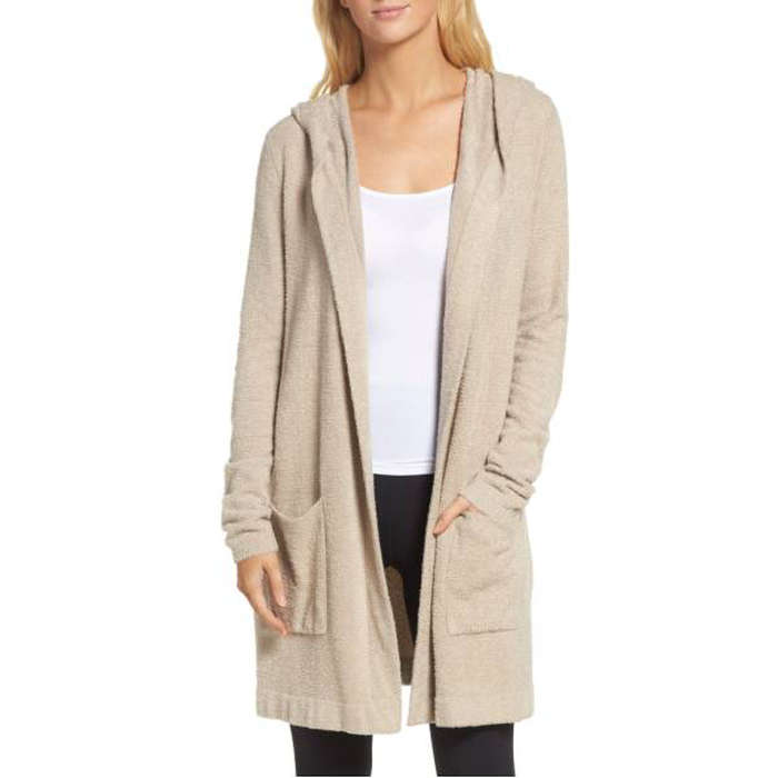 Barefoot Dreams Cozychic Lite Coastal Hooded Cardigan | Rank & Style