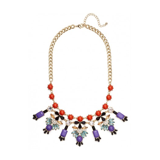 Best Statement Necklaces - Bauble Bar Amethyst Archipelago Bib