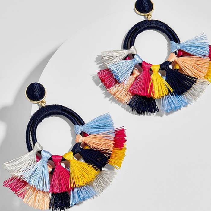 Best Rainbow Fashion Pieces - BaubleBar Ayana Hoop Earrings