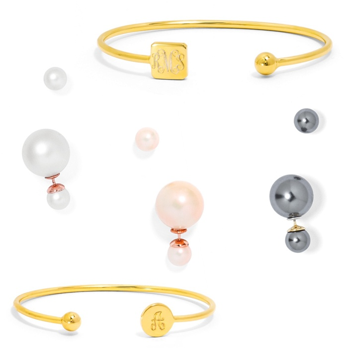 Best For the Preppy Girl - BaubleBar Elle Bangle and Pearl 360 Studs