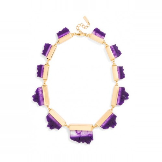 Best Lilac Bests - BaubleBar Raw Geode Collar Necklace