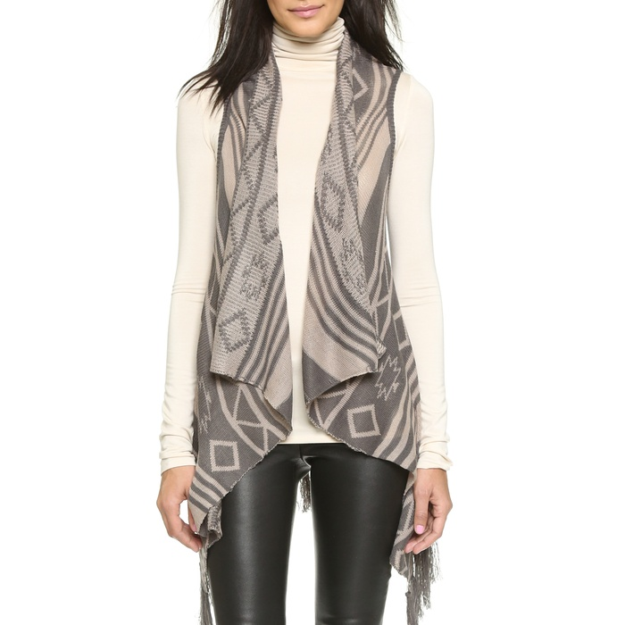 Best Long Vests - BB Dakota Damen Fringe Vest