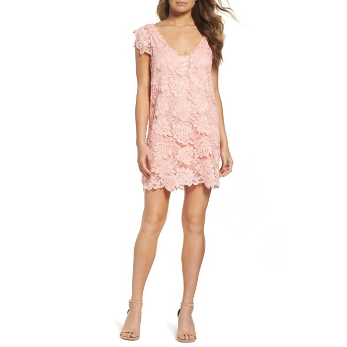 Best Summer Wedding Guest Dresses Under $150 - BB Dakota Jacqueline Lace Shift Dress