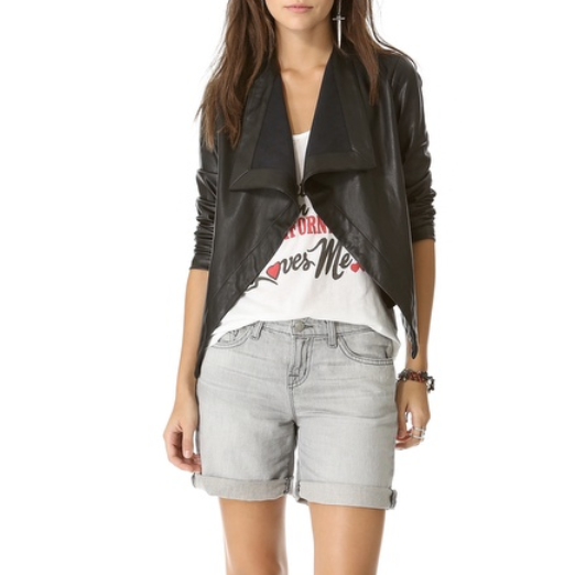 Best Moto Jackets - BB Dakota Jasper Drape Front Jacket