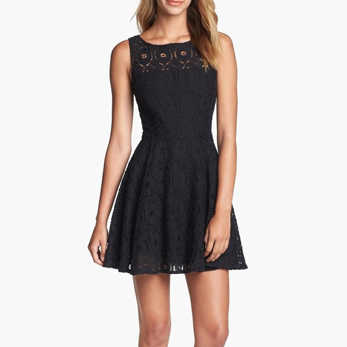 Best Spring LBDs Under $200 - BB Dakota 'Renley' Lace Fit & Flare Dress