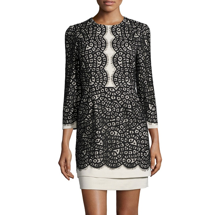 Best Lace Dresses - BCBGMAXAZRIA Elyssa Scalloped Lace Dress