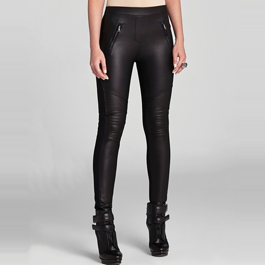 Best Faux Leather Leggings - BCBGMAXAZRIA Kalin Faux Leather Combo Leggings