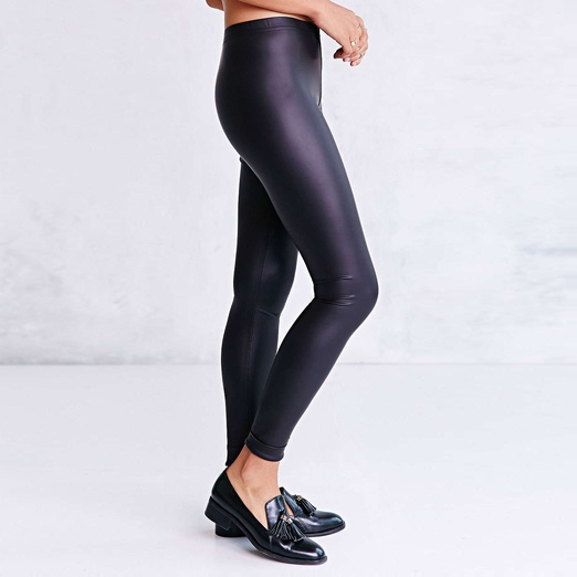 Best Faux Leather Leggings - BDG Cuffed Faux Leather Legging