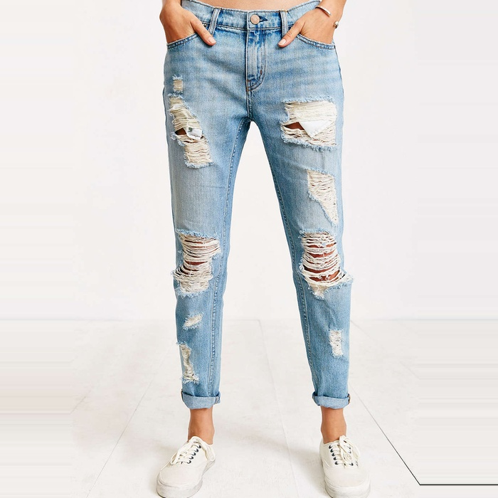 Best Distressed Jeans Under $200 - BDG Slim Boyfriend Jean - Slash