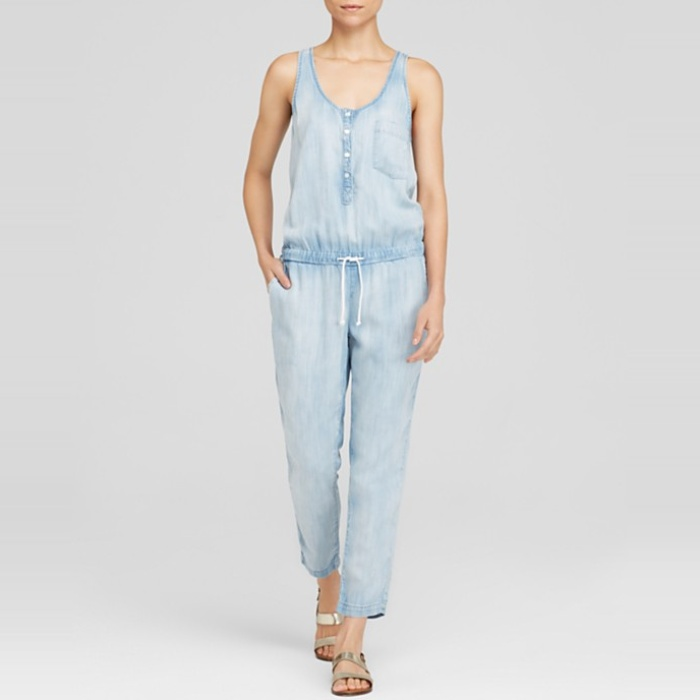 Best Summer's Best Chambray Fashion - Bella Dahl Chambray Racerback Jumpsuit