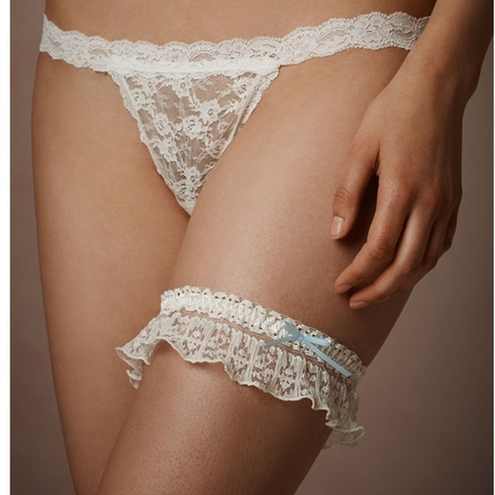 Best Something Blue Ideas - BHLDN Hanky Panky Rosalind Garter