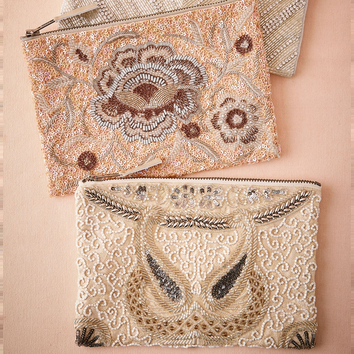 Best Bridal Handbags - BHLDN Santal Beaded Clutch