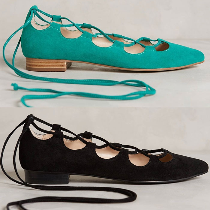 Best The Best Lace Up Flats, Heels and Boots - Billy Ella Lace-Up Flats