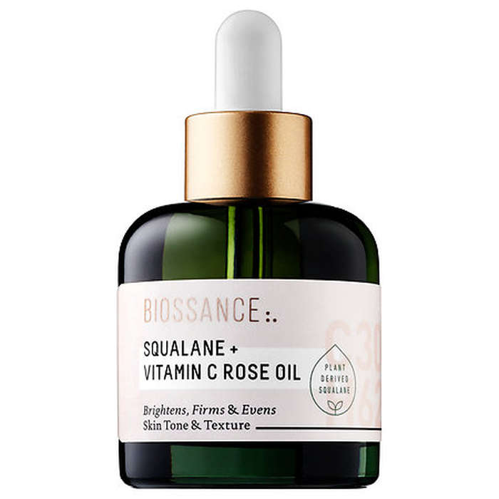 Best Squalane Skincare Products - Biossance Squalane + Vitamin C Rose Oil