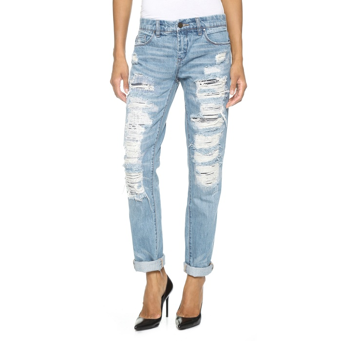 Blank Denim Distressed Boyfriend Jeans | Rank & Style