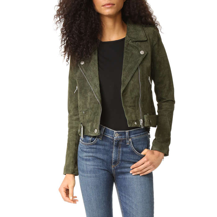 Best Holiday Must-Haves at Shopbop - Blank Denim Genuine Suede Moto Jacket