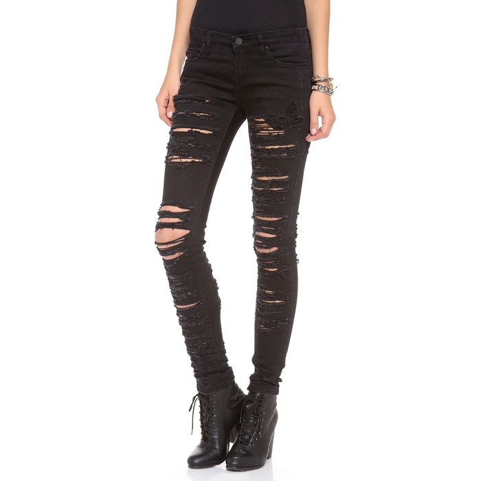 Best Black Distressed Jeans - Blank Denim Ripped Skinny Jeans
